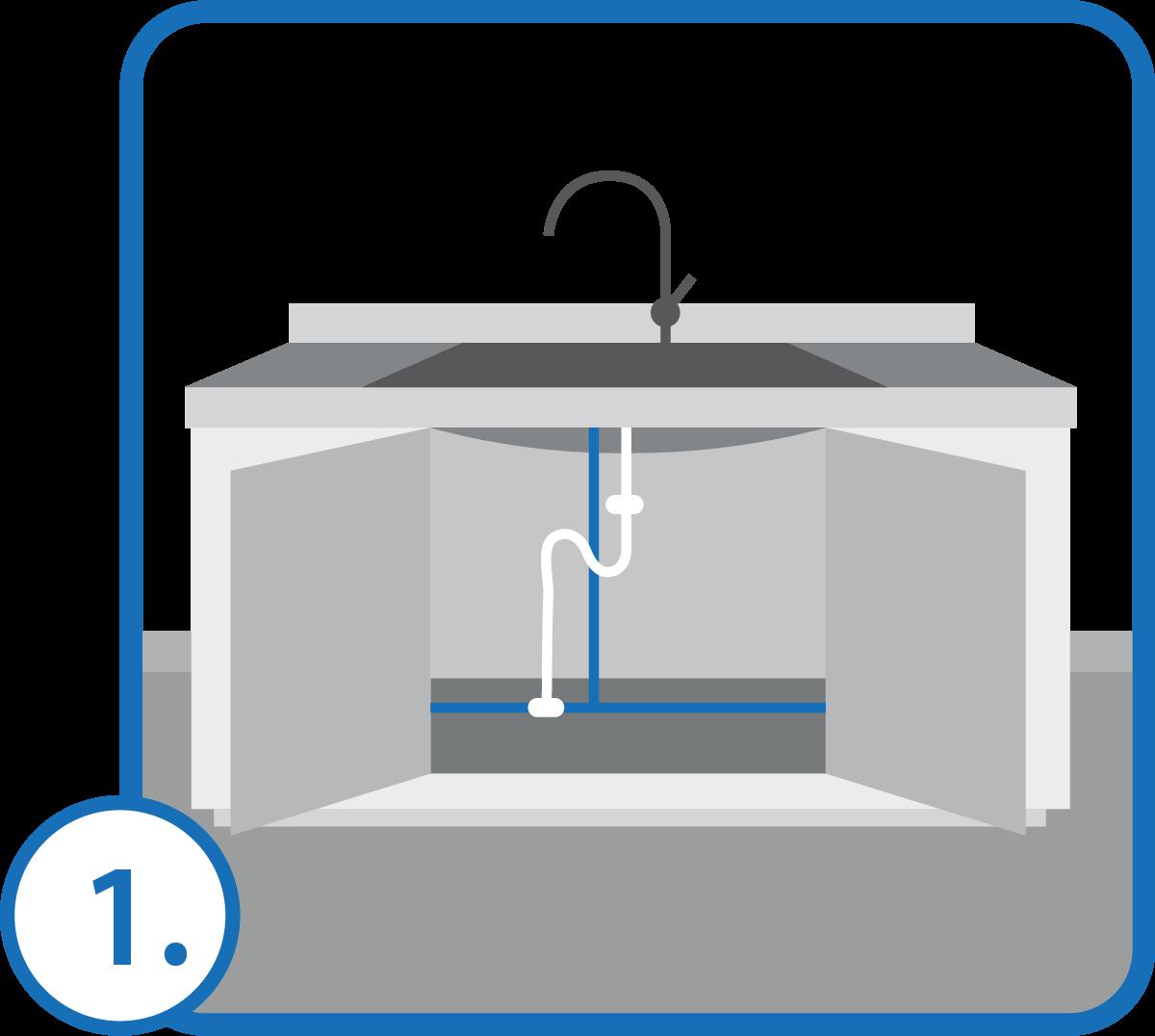 Znajdujemy najbliższe źródło wody, do którego się podłączamy za pomocą trójnika.