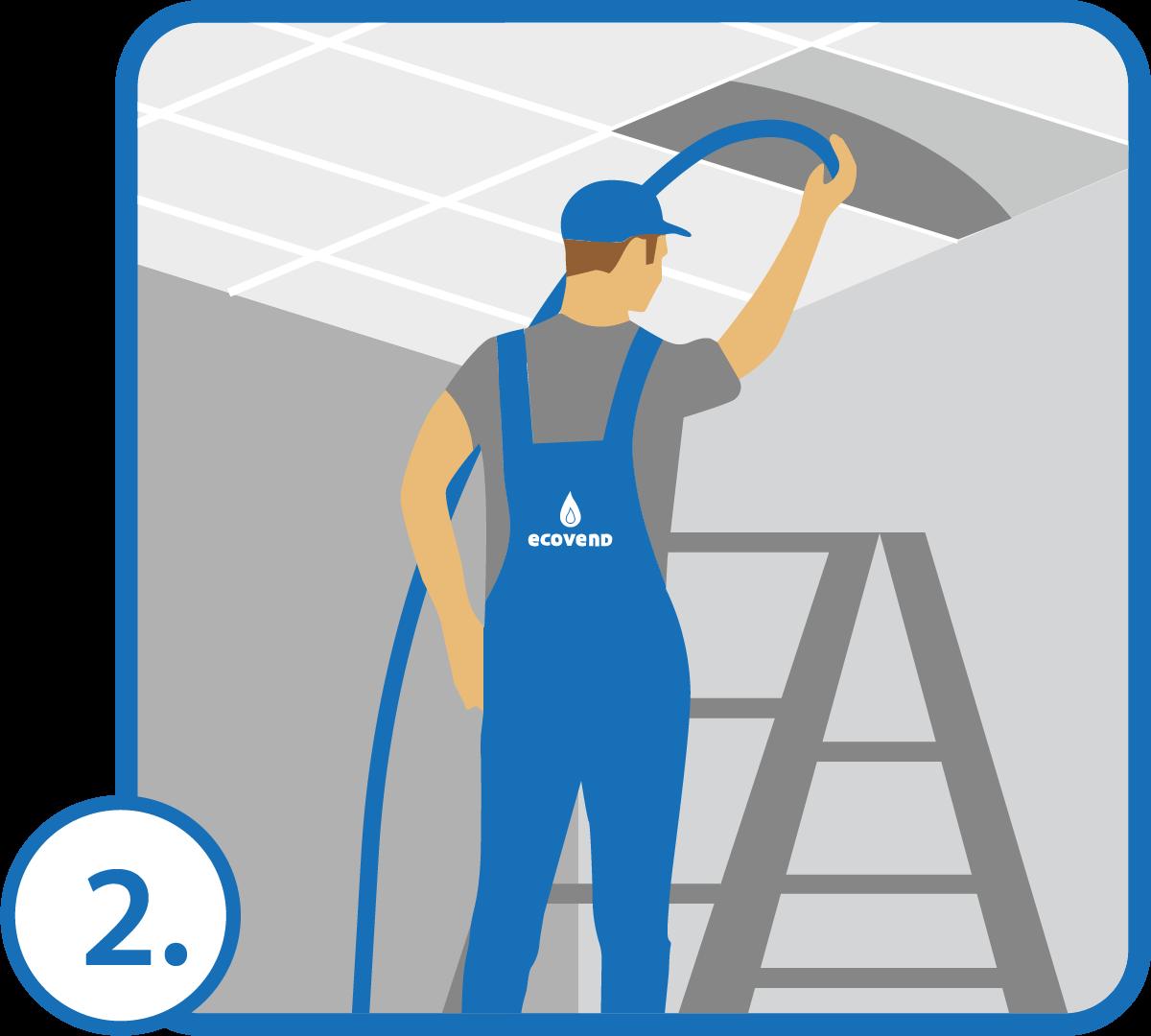 Doprowadzamy wodę do wskazanego miejsca elastycznym przewodem zamaskowanym w podłodze, ścianie, suficie lub listwie przypodłogowej.